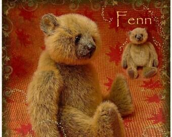 Fenn, Miniature Artist Bear PDF Pattern by Aerlinn Bears