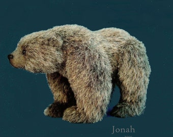 Jonah Realistic Bear PDF  Pattern by Aerlinn Bears
