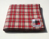 HOLIDAY SALE. 20% off, was 15.00, now 12.00 through the month of December. FLANON flannel bandana - ivory/black/red/white plaid