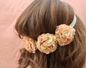 Miss Kate - Peach and Mint Flower Headband
