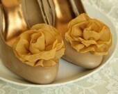Miss betty - Mustard Yellow Flower Shoe Clips
