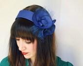 Miss Florence - Blue 20's style headband