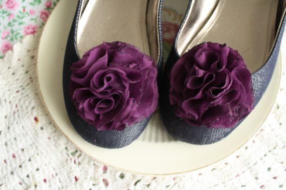 Miss Kristina - Fabric Flower Shoe Clips