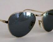 Vintage 60s Aviator Sunglasses. Mad Men Style.