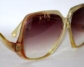 Vintage Large Sunglasses. 70s Rose Fade.