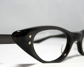 Cat Eye Glasses. Vintage American Optical CatEye Frames. Sable Gray