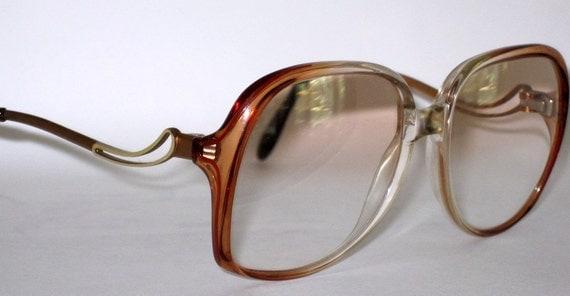 Vintage 80s Drop Temple Eyeglasses Great Shape Metzler