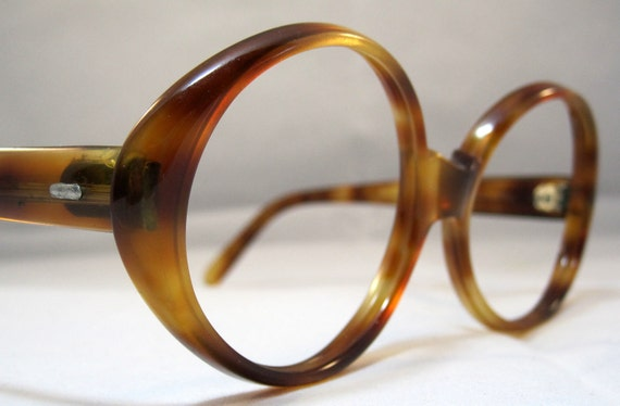 Vintage Eyeglasses 60s Large Round Oval by ...