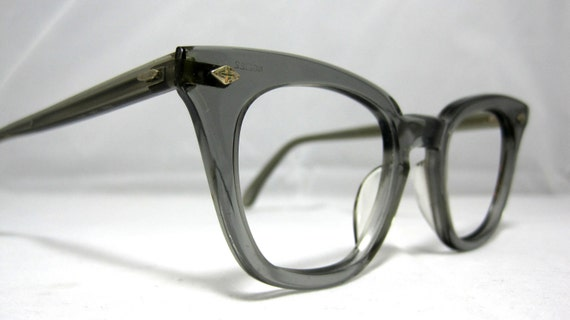 Vintage Mens Safety Glasses. Gray Horn Rim 60s Eyeglasses. Clark Kent Style