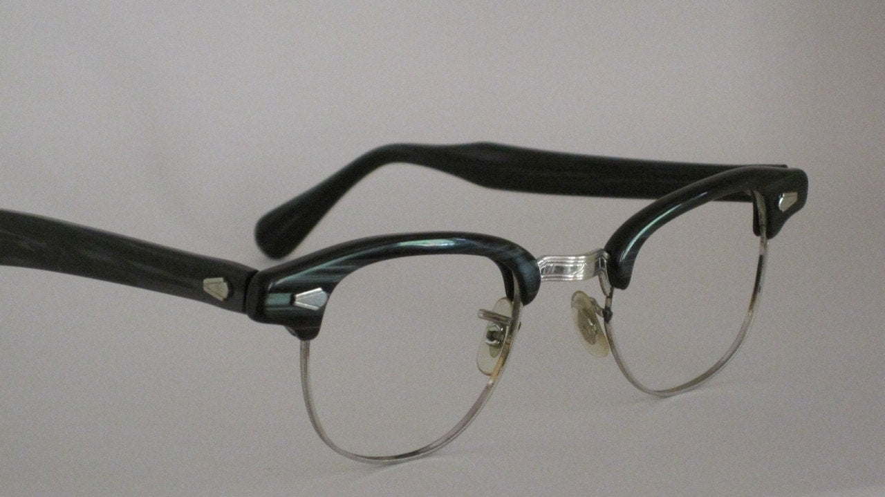 Vintage 50s eyeglass frames. Mens 12 karat gold filled