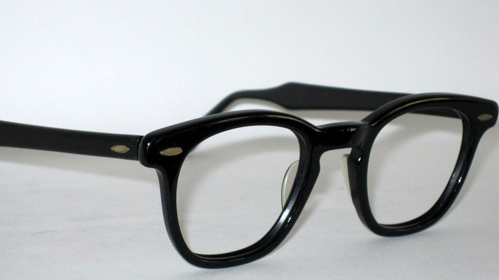 Glasses Frames For 60 Year Old Man : Vintage 50s-60s Horn Rim Glasses. Bausch and Lomb. Mad Men