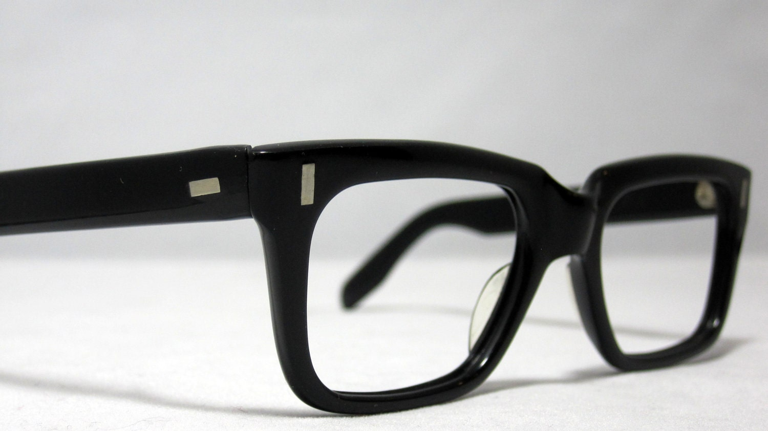 Black Frame Glasses For Guys : Vintage EyeGlasses. Mens Horn Rim Black Glasses. Clark Kent