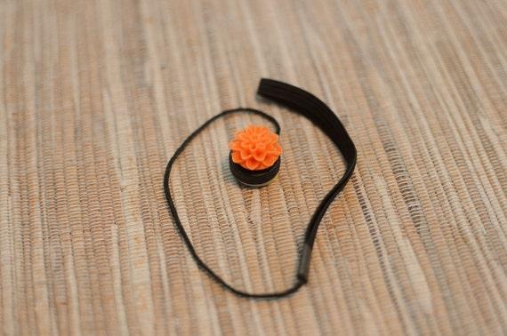 Pumpkin Orange Lens Cap Keeper Strap for Cameras