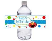 Colorful Elmo Water Bottle Wraps