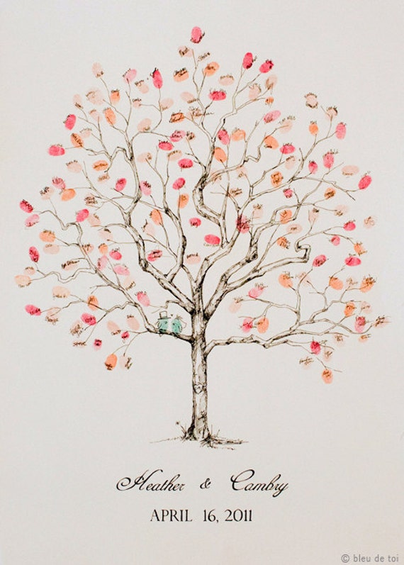 reserved for alice rush guest book fingerprint tree large