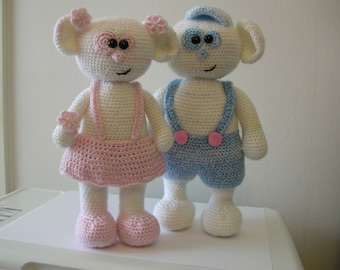 Bubbles and Bianca - 2 PDF cochet patterns