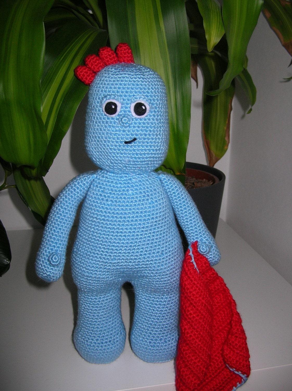 Amigurumi Iggle Piggle : Iggle Piggle - PDF crochet pattern from Fjukten on Etsy Studio