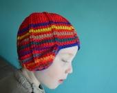 Crochet pattern : retro inspired hat for children in 3 sizes