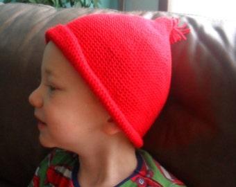 Crochet pattern : elf-pixie hat in 4 sizes