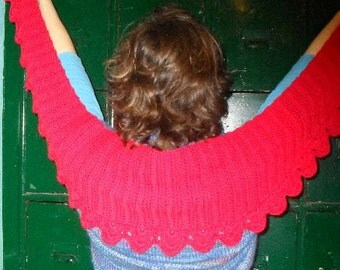 PATTERN : crochet pattern Red Moon Shawl
