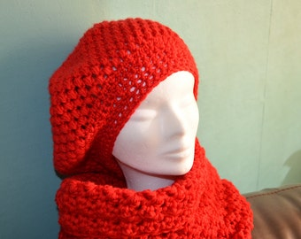 Crochet pattern : Ladies winter beret
