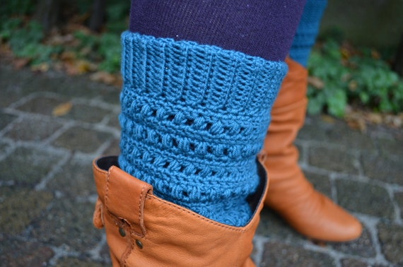 Crochet pattern :  leg warmers in fancy stitch pattern for all sizes and  crochet hooks and all kinds of yarn