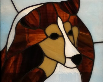 Stained Glass Sheltie