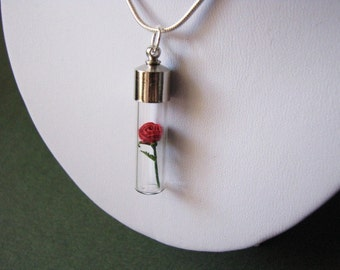 Micro Origami Rose Necklace - Belle - Origami Jewelry