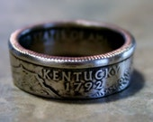 2001 Kentucky State Quarter Coin Ring  by Custom Coin Rings jewelry Size 5 to 13