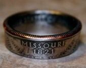 2003 Missouri State Quarter Coin Ring  Size 5 to 12 Handmade