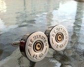 Remington 12 GA Bullet Shotgun Shell Cufflinks  cuff links By Custom Coin Rings