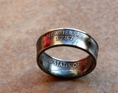 1999 New Jersey State Quarter  Ring You pick size jewelry by Custom Coin Rings Size 5 to 12