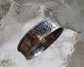 California State Quarter You pick size 4.5-14 Jewelry by Custom Coin Rings