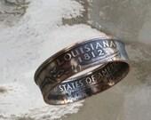 2002 Louisiana State Quarter Ring Handmade Jewelry size 5 to 13