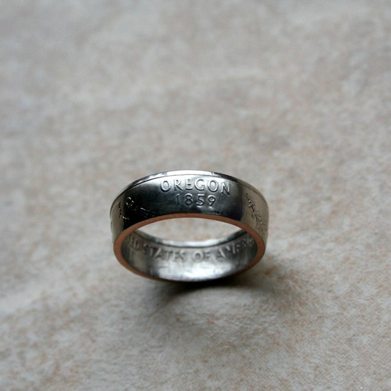 2005 Oregon State Quarter Coin Ring Size 5-12 jewelry by Custom Coin Rings