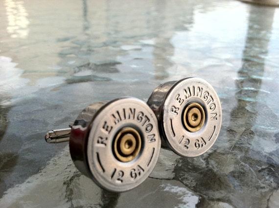 Remington 12 GA Bullet Shot Gun Shell Cufflinks  cuff links FREE SHIPPING--By Custom Coin Rings
