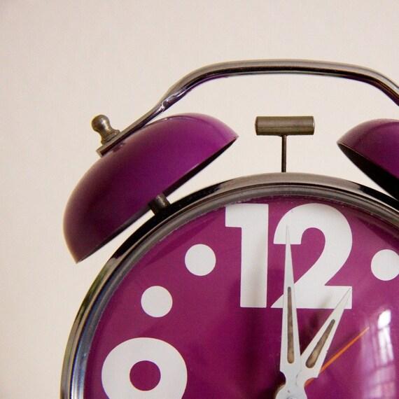 Vintage Purple 60s Westclox Alarm Clock