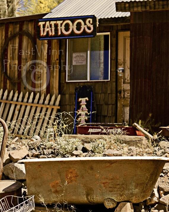 Photograph tattoo business oatman arizona fine art photo for Tattoo shops bullhead city az