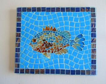 Mosaic Fish Home Decor Beach Cottage Decor Wall Art