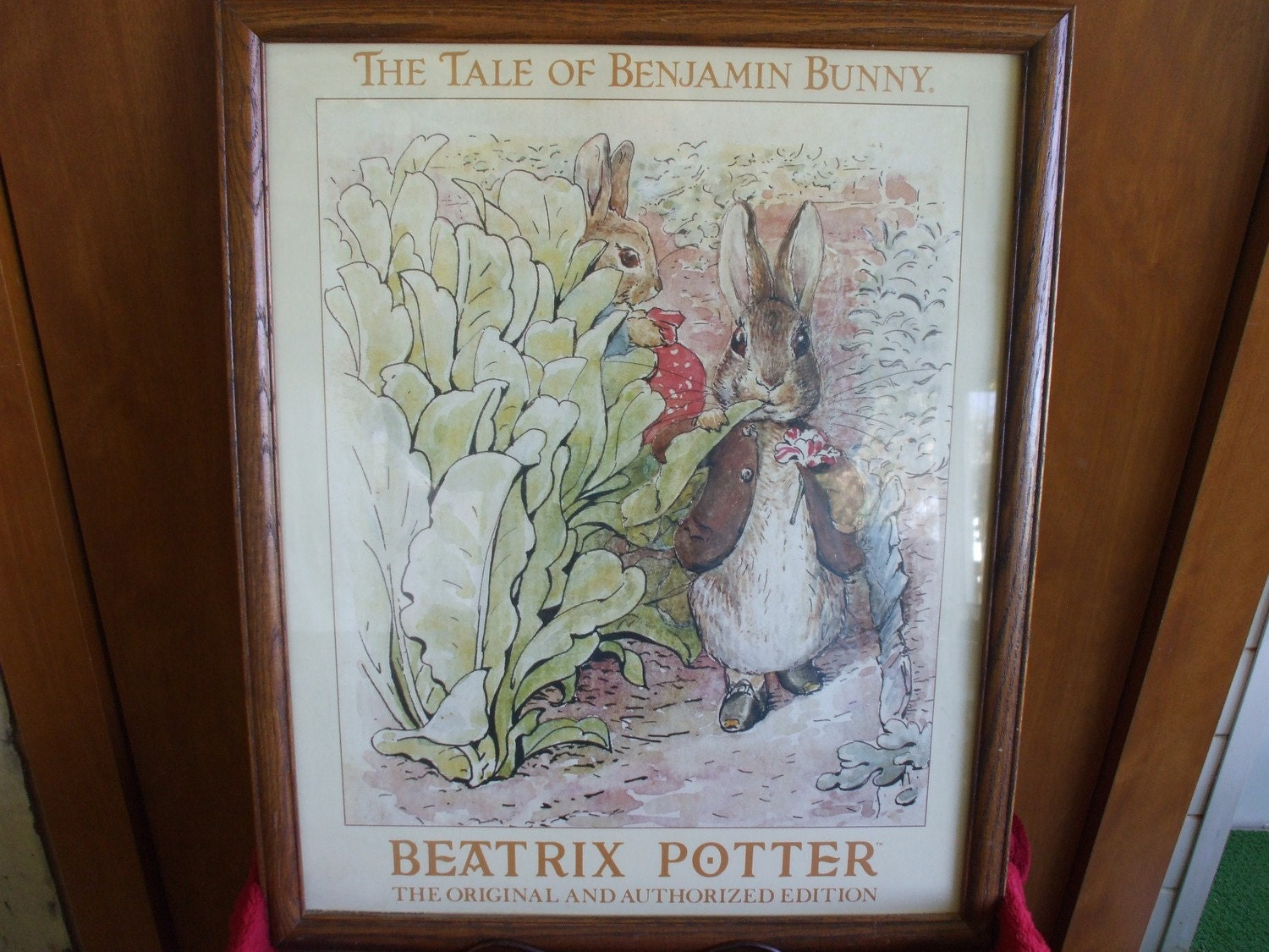 Vintage Beatrix Potter Original Art Print Framed