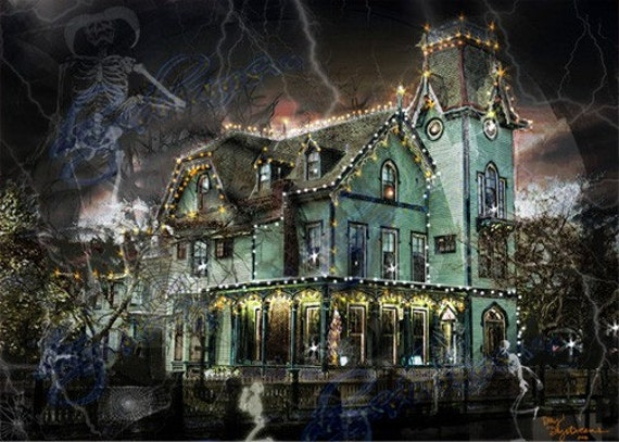 Items similar to Halloween, Victorian Haunted House ...