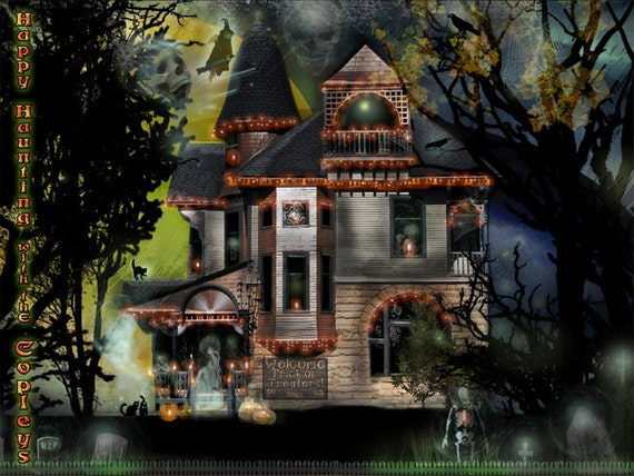 Items Similar To Halloween Victorian Haunted House