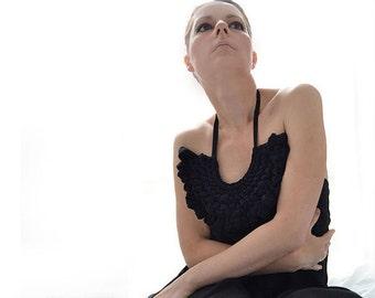 Black Transparent sexy tunic, Transparent dress