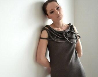 Knitted dress, knitdress, designer dress