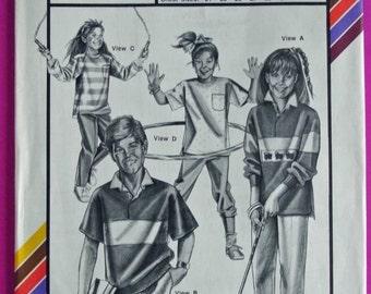 Stretch & Sew 958 - Children's Hidden Placket Rugby Pattern