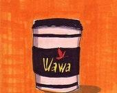 Wawa Coffee-5x7 inch Print from Original Illustration