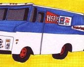 Herr's Truck-Original Framed 5x7 inch Illustration