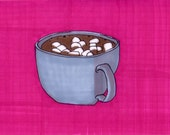 Hot Cocoa-5x7 inch Print from Original Illustration