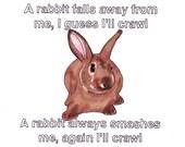 Little Fury Things/Rabbit- 8x10 Framed Original Illustration