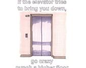 Let's Go Crazy/Elevator 8x10 Print from Original Illustration